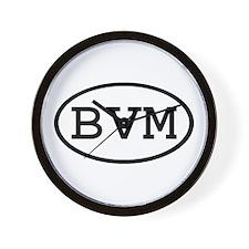 BVM Oval Wall Clock