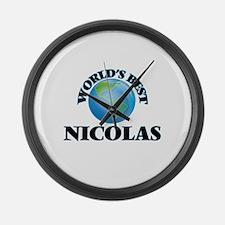 World's Best Nicolas Large Wall Clock