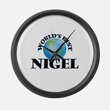 World's Best Nigel Large Wall Clock