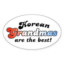 Korean Grandma Oval Decal