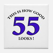 How Good - 55 Looks Tile Coaster