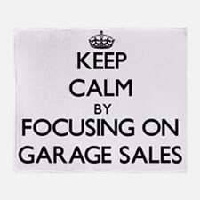 Keep Calm by focusing on Garage Sale Throw Blanket