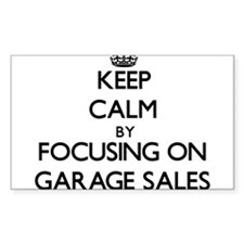 Keep Calm by focusing on Garage Sales Decal