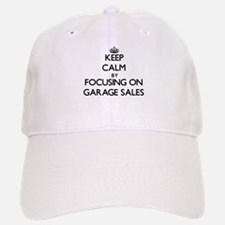 Keep Calm by focusing on Garage Sales Baseball Baseball Cap