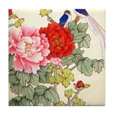 Chinese Water Color Painting Tile Coaster