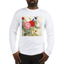 Chinese Water Color Painting Long Sleeve T-Shirt