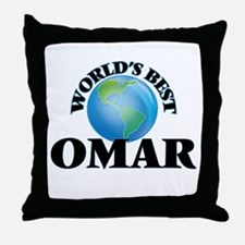 World's Best Omar Throw Pillow