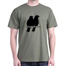 Friends Are Chosen Family Quote Cute Bird T-Shirt
