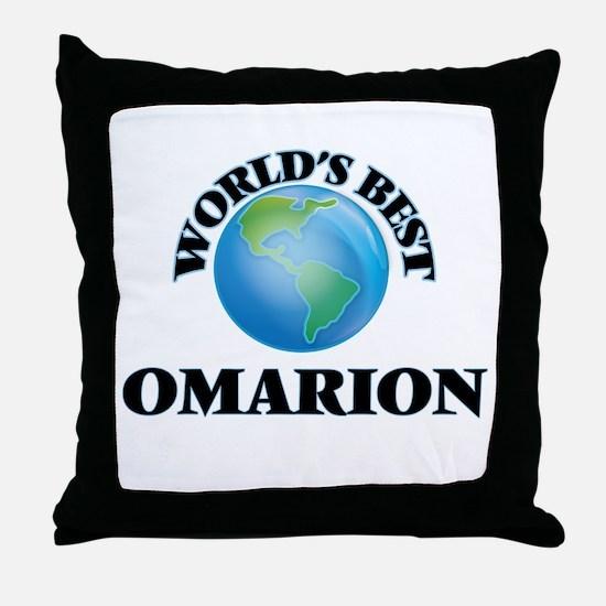 World's Best Omarion Throw Pillow