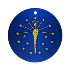 Indiana (v15b) Ornament (Round)