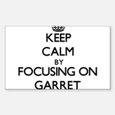Keep Calm by focusing on Garret Decal