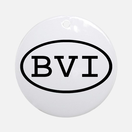 BVI Oval Ornament (Round)