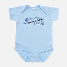 Personalisable Blue Baseball Logo Design Body Suit