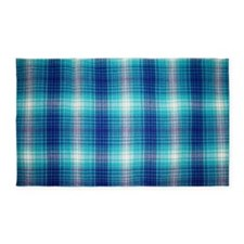 Blue Plaid 3'x5' Area Rug