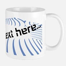 Personalisable Blue Baseball Logo Design Mugs