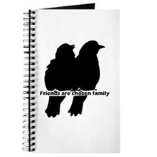Friends Are Chosen Family Quote Cute Bird Journal