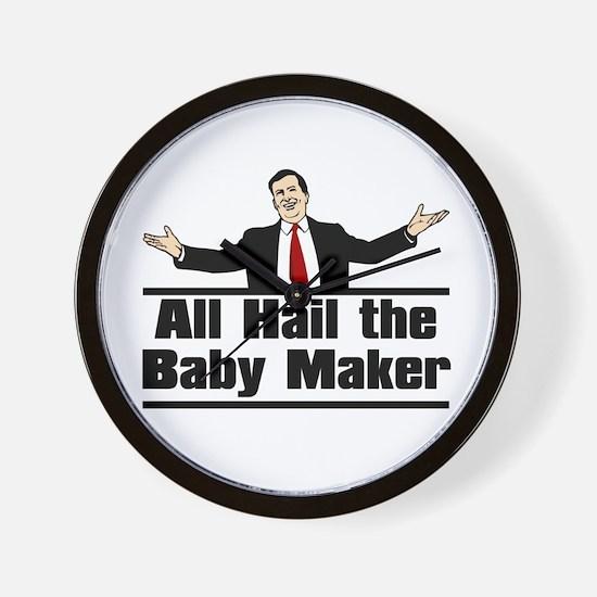 Hail the Baby Maker Wall Clock
