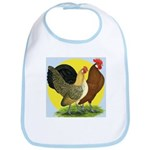 Red Quill Chickens Bib