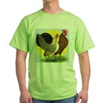 Red Quill Chickens Green T-Shirt