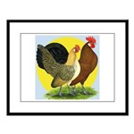 Red Quill Chickens Large Framed Print