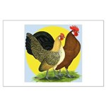 Red Quill Chickens Large Poster