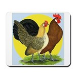 Red Quill Chickens Mousepad