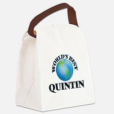 World's Best Quintin Canvas Lunch Bag