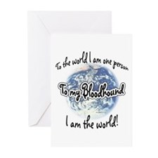 Bloodhound World2 Greeting Cards (Pk of 10)