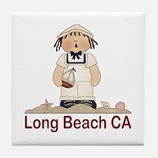 Long Beach Sailor Tile Coaster