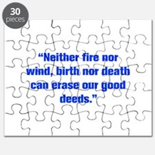 Neither fire nor wind birth nor death can erase ou