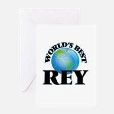 World's Best Rey Greeting Cards