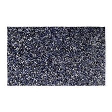 Black Granite 3'x5' Area Rug