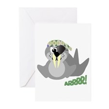 Goofkins Walrus Pirate Greeting Cards (Package of