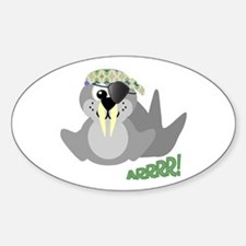 Goofkins Walrus Pirate Oval Decal