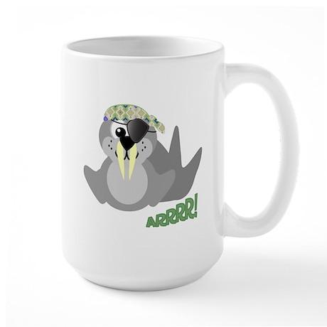 Goofkins Walrus Pirate Large Mug