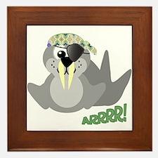 Goofkins Walrus Pirate Framed Tile