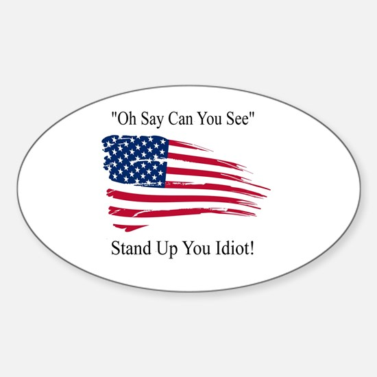 Funny Respect Sticker (Oval)