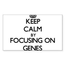 Keep Calm by focusing on Genes Decal
