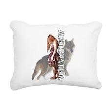 Funny Wolf Rectangular Canvas Pillow