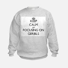 Keep Calm by focusing on Gerbils Sweatshirt
