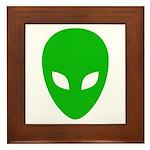 Alien Face - Extraterrestrial Framed Tile