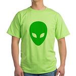 Alien Face - Extraterrestrial Green T-Shirt