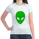 Alien Face - Extraterrestrial Jr. Ringer T-Shirt