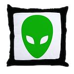 Alien Face - Extraterrestrial Throw Pillow