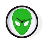 Alien Face - Extraterrestrial Wall Clock