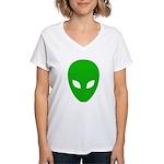 Alien Face - Extraterrestrial Women's V-Neck T-Shi