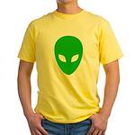 Alien Face - Extraterrestrial Yellow T-Shirt