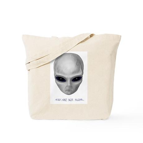 "Alien Stare ""You Are Not Alone"" Tote Bag"