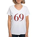 Naughty 69 Women's V-Neck T-Shirt