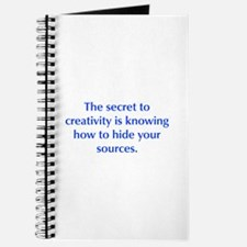 The secret to creativity is knowing how to hide yo